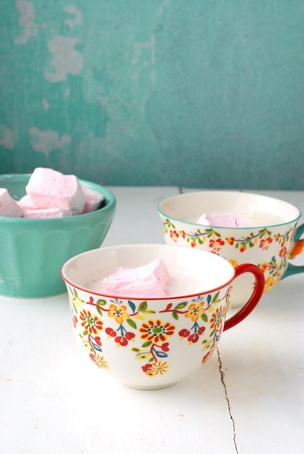 Vanilla Steamer with Rose Marshmallows - BoulderLocavore.com
