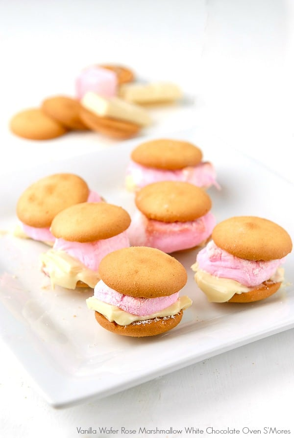 Vanilla Wafer Rose Marshmallow White Chocolate Oven S'Mores