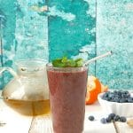 Green Tea Blueberry Ginger Antioxidant Smoothie - BoulderLocavore.com