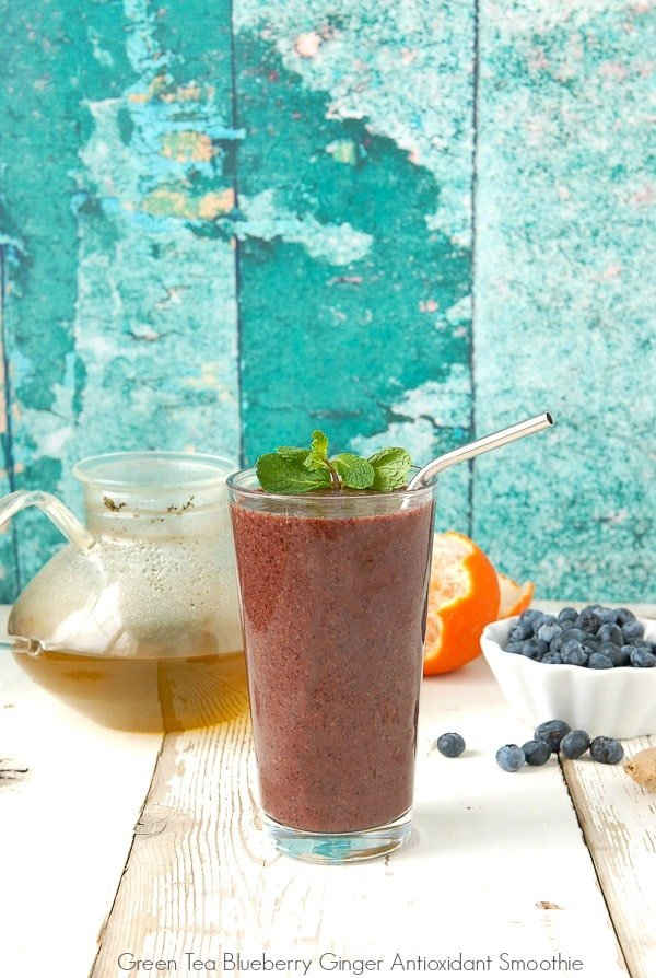 Green Tea Blueberry Ginger Antioxidant Smoothie - BoulderLocavore.com
