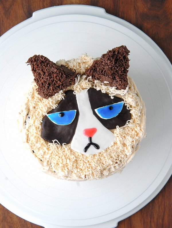 Grumpy Cat Cake Design : How to Make a Grumpy Cat Cake
