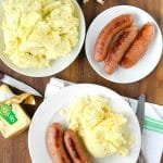 Irish Potato Champ and Sausages - BoulderLocavore.com