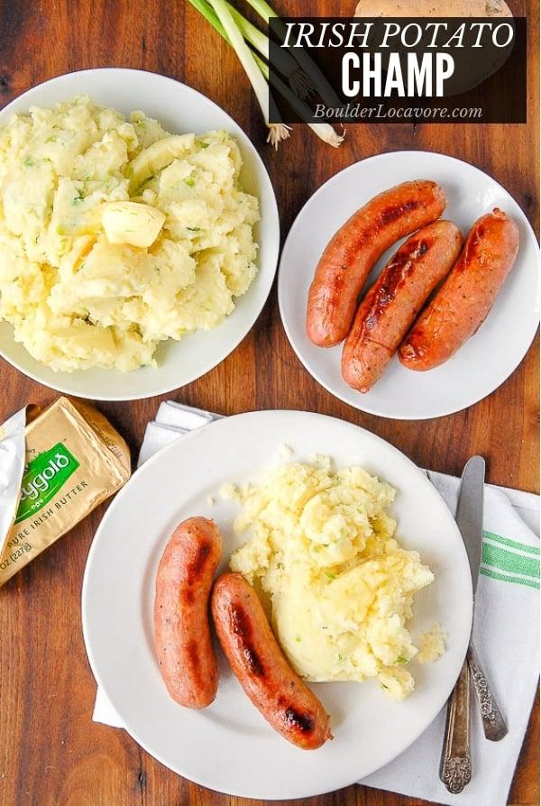 Irish Potato Champ an Irish Potatoes recipe with scallions