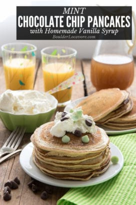 Mint Chocolate Chip Pancakes with Vanilla Syrup title image