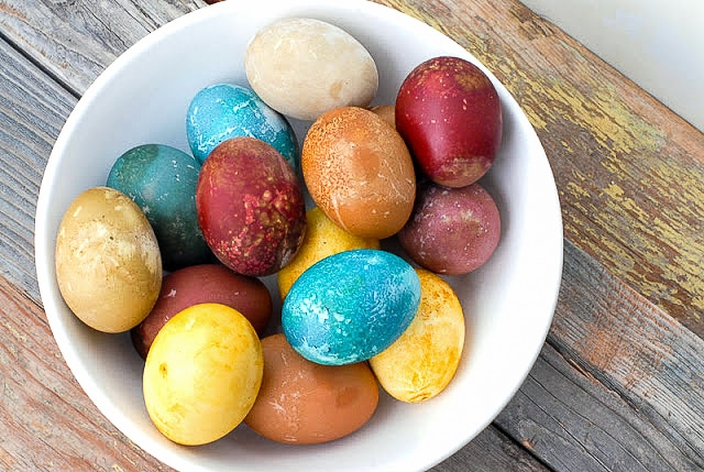 Natural Food Dyed Easter Eggs - BoulderLocavore.com_