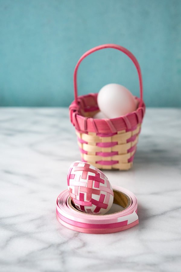 Pink Satin Ribbon 'Kiss' Easter Eggs - BoulderLocavore.com