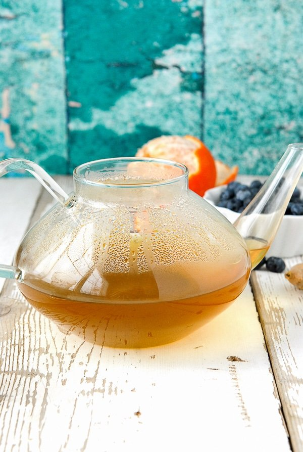 Pot of Green Antioxidant Tea - BoulderLocavore.com
