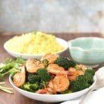 Spicy Garlic Sriracha Shrimp and Broccoli Stir Fry
