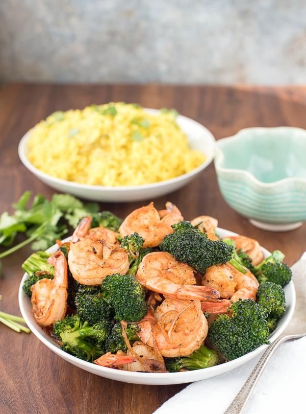 Spicy Garlic Sriracha Shrimp and Broccoli Stir Fry - BoulderLocavore.com