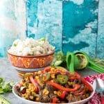 Spicy Southwestern Steak Stir Fry with Cilantro-Lime Rice