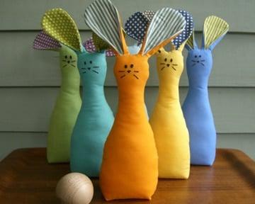 Bunny Bowling Set tutorial Etsy Blog | BoulderLocavore.com