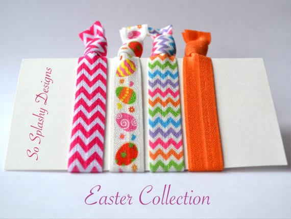 Easter hair ties or bracelets from So Splashy Designs (Etsy) | Boulderlocavore.com