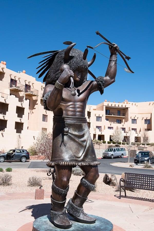 Buffalo Thunder Hilton Native American Sculpture - Santa Fe - BoulderLocavore.com