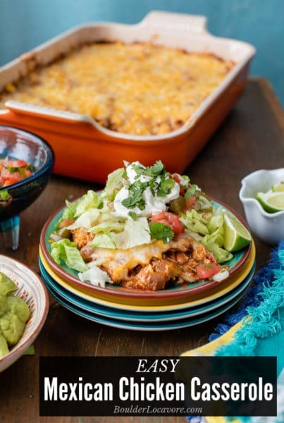 Easy Mexican Chicken Casserole title image