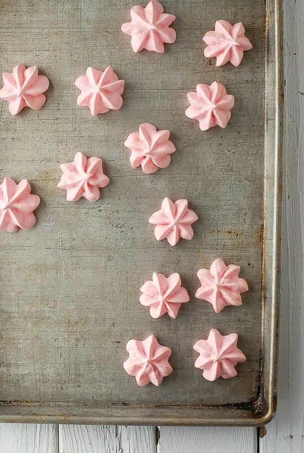 Forget Me Nots (rose-flavored meringue cookies) -  BoulderLocavore.com