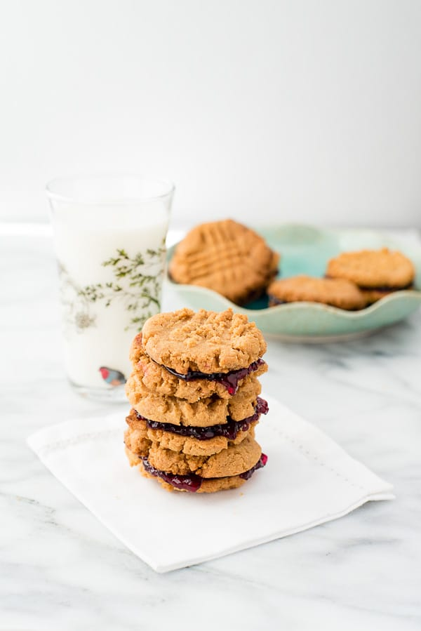Peanut Butter and Jelly Sandwich Cookies. Easy gluten-free recipe. - BoulderLocavore.com