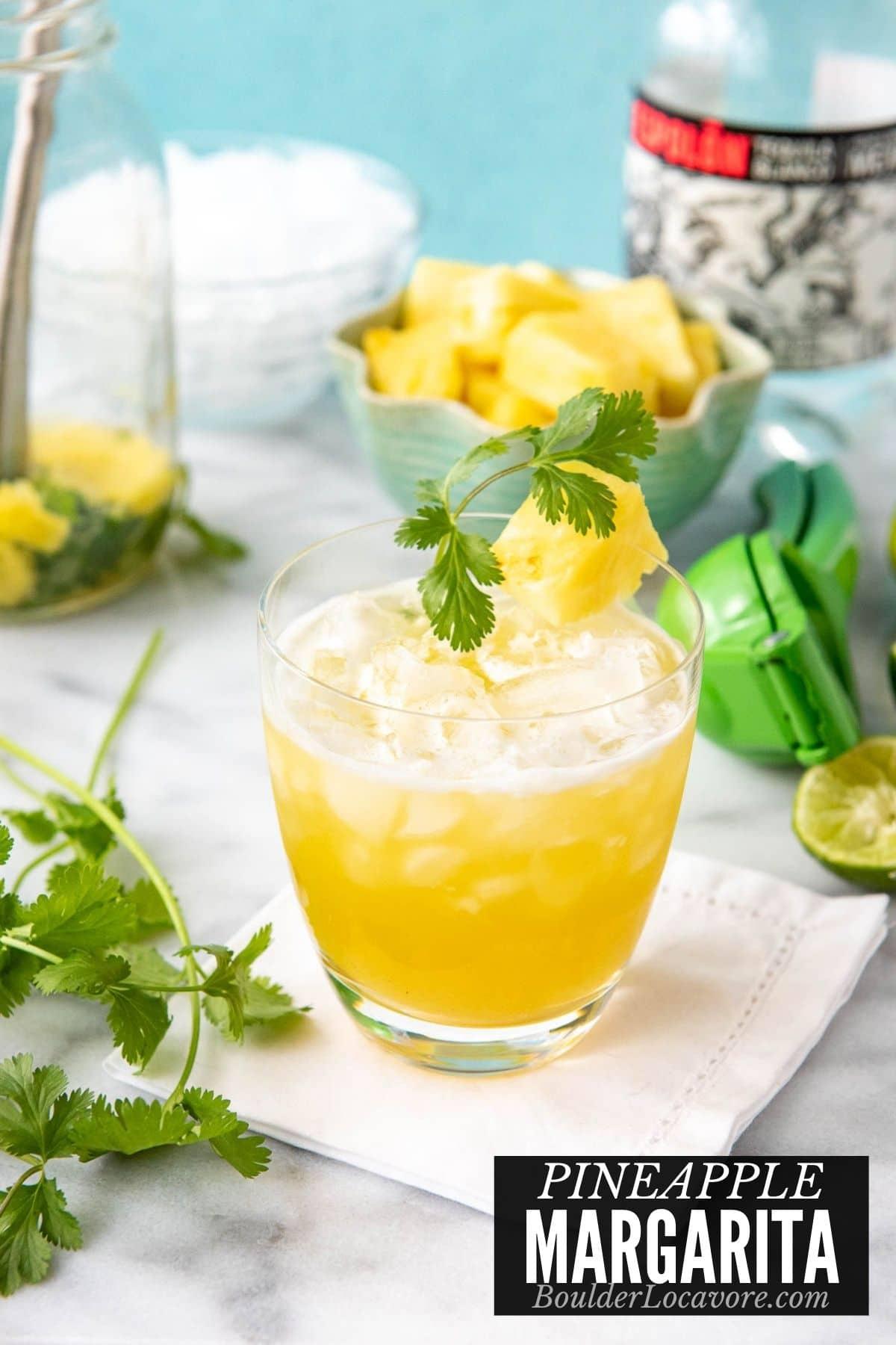 Pineapple Margarita title