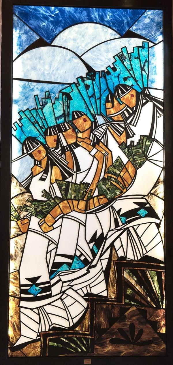 Stained Glass art at Buffalo Thunder Hilton Santa Fe - BoulderLocavore.com