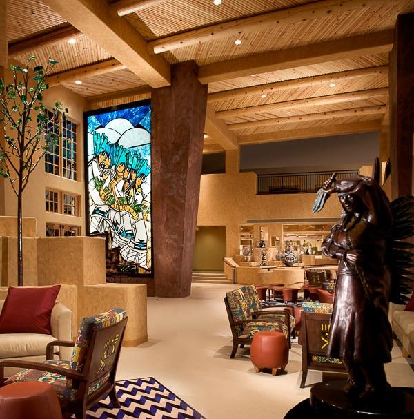 Buffalo Thunder Hilton Santa Fe Art Lobby | BoulderLocavore.com