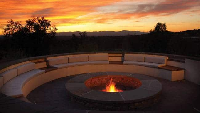 Outdoor Fire Pit at The Bar - Four Seasons Rancho Encantado, Santa Fe