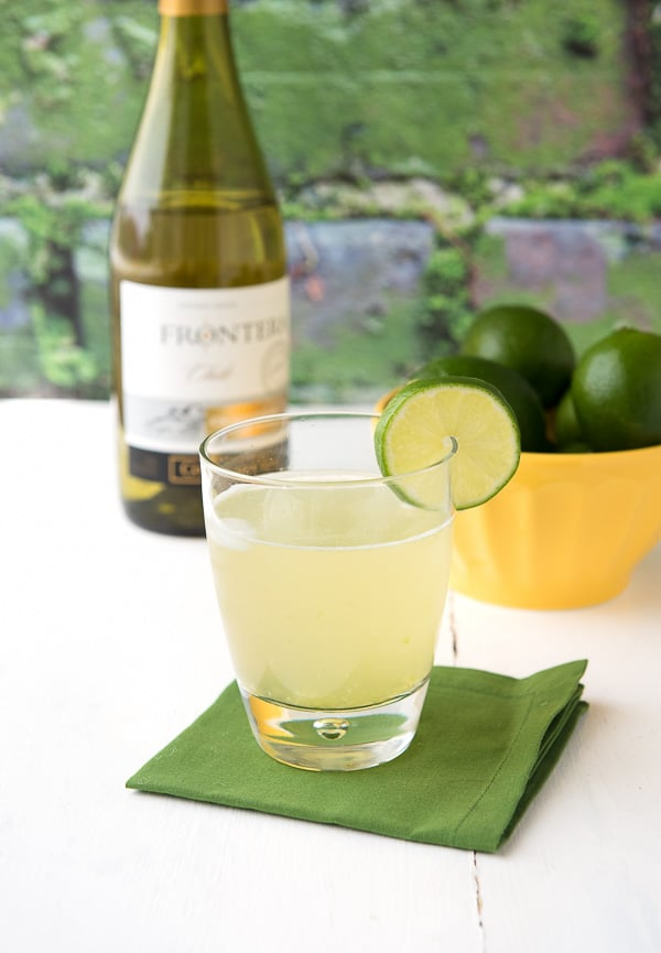 Al Fresco cocktail {Chardonnay, cucumber, lime, simple syrup} - BoulderLocavore.com