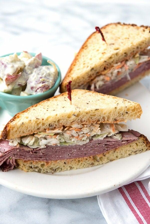 Brooklyn Avenue Sandwich {Pastrami, Cole Slaw, Russian Dressing, Rye} - BoulderLocavore.com