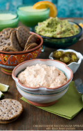 Cream Cheese Bacon Salsa Spread with Black Bean Crackers {gluten-free}