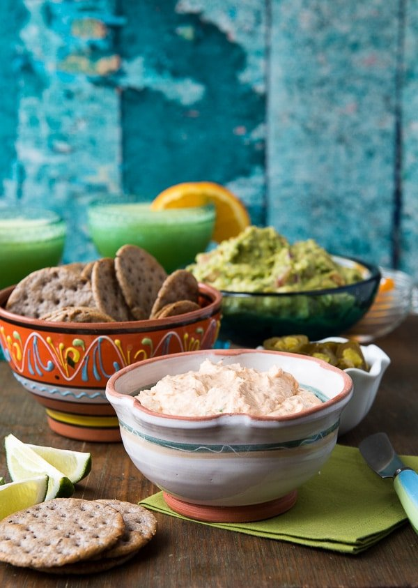 Cream Cheese Bacon Salsa spread with Black Bean crackers gluten-free - BoulderLocavore.com