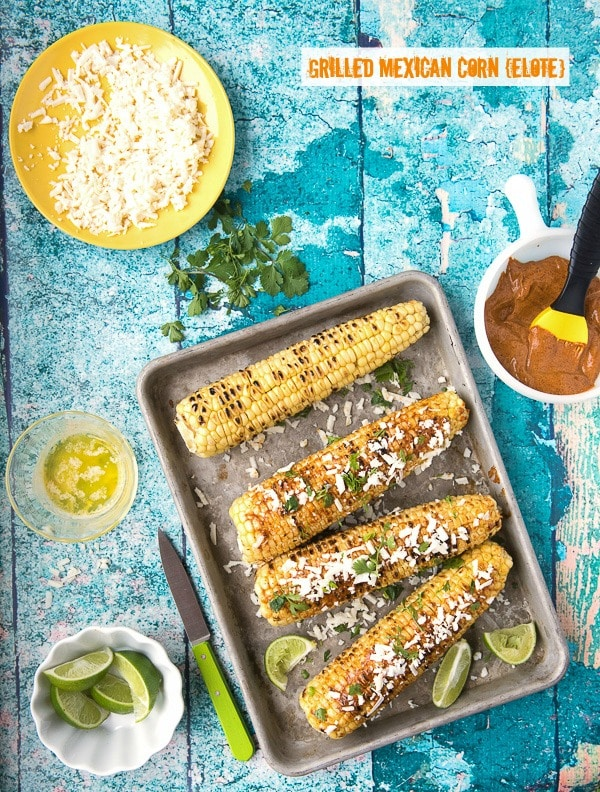 Grilled Mexican Corn {elote}  -  BoulderLocavore.com