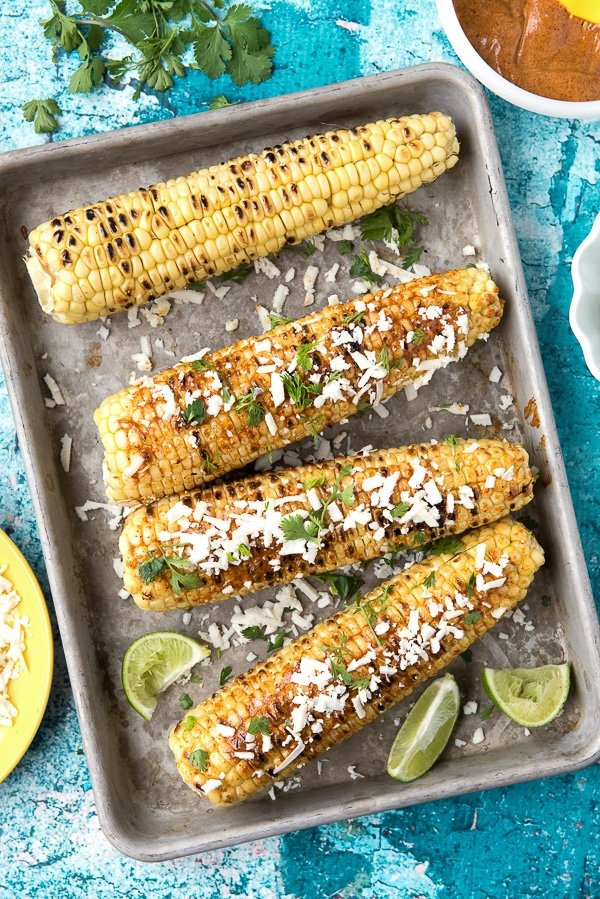 Grilled Mexican Corn {Elote}