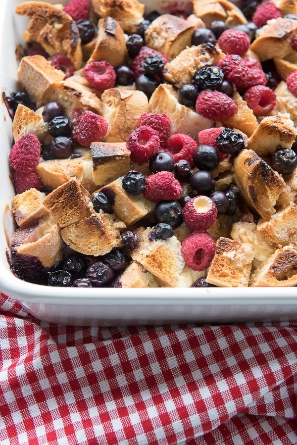 Overnight Red, White and Blue Berry French Toast Breakfast Casserole -  BoulderLocavore.com
