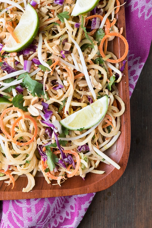 Pad Thai Salad closeup