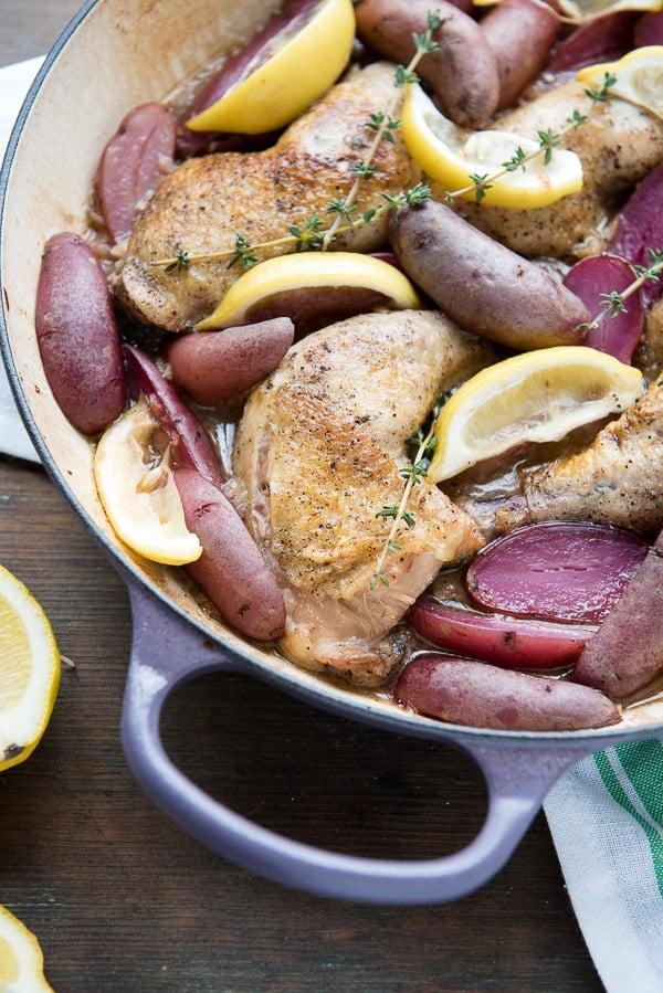 Vermouth-Braised Lemon Chicken Legs - BoulderLocavore.com