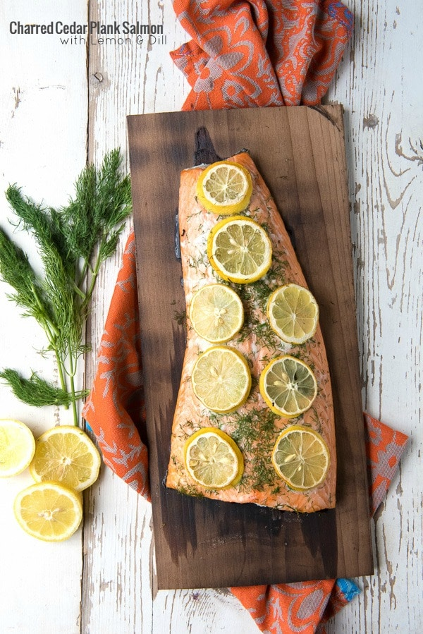 Charred Cedar Plank Salmon with Lemon and Dill - BoulderLocavore