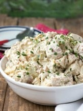 Grill-Smoked Creamy Smoked Potato Salad with Bacon - BoulderLocavore