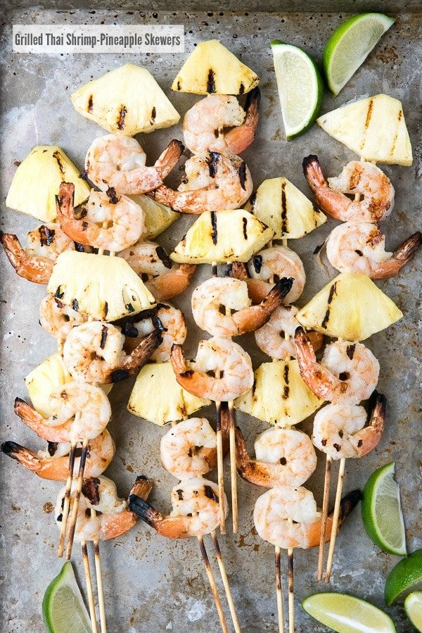 Grilled Thai Shrimp-Pineapple Skewers - BoulderLocavore