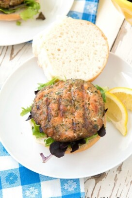 Hay Smoked Salmon Burgers