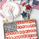 American Flag Fruit Cookie Dessert Pizza
