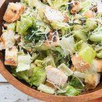 Grilled Chicken Caesar Salad with Creamy Light Dressing