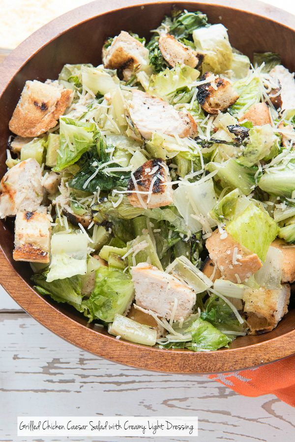 Grilled Chicken Caesar Salad with Creamy Light Dressing