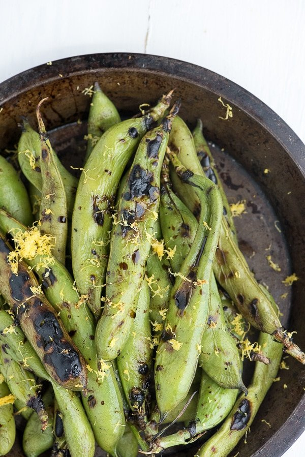 Grilled Fava Beans with Balsamic Vinegar - BoulderLocavore.com