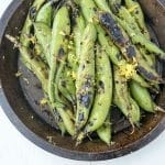 Grilled Fava Beans with Balsamic Vinegar