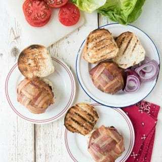 Grill-Smoked Green Chile Burgers with Bacon Weave - BoulderLocavore.com