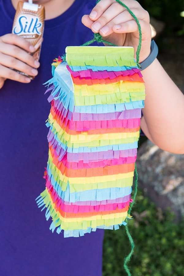 How to Make a Rainbow Milk Carton Pinata tutorial - BoulderLocavore.com