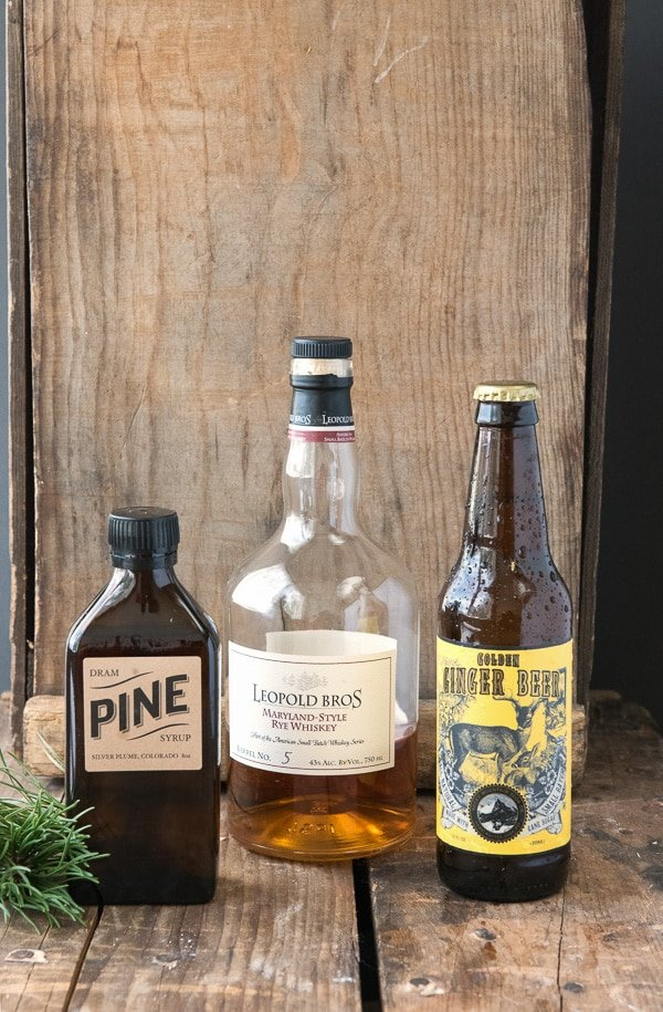 Mountain Pine Whiskey Cooler cocktail - Colorado ingredients BoulderLocavore.com