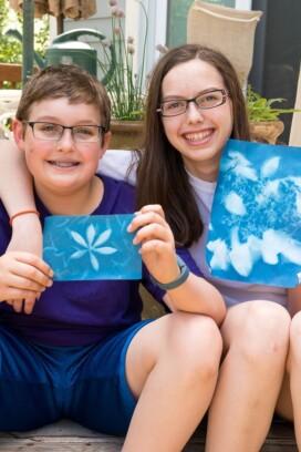 Nature Walk and Sun Art- summer fun for kids