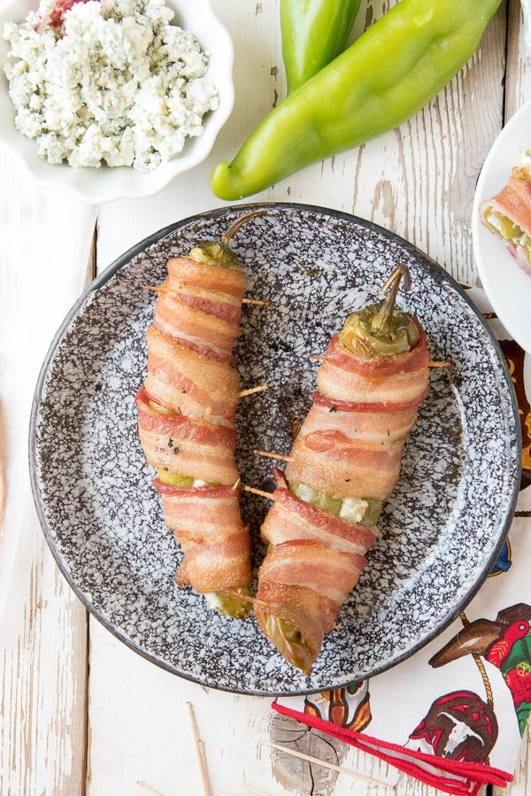 Smoked Blue Cheese Stuffed Bacon-Wrapped Chile Peppers - BoulderLocavore.com