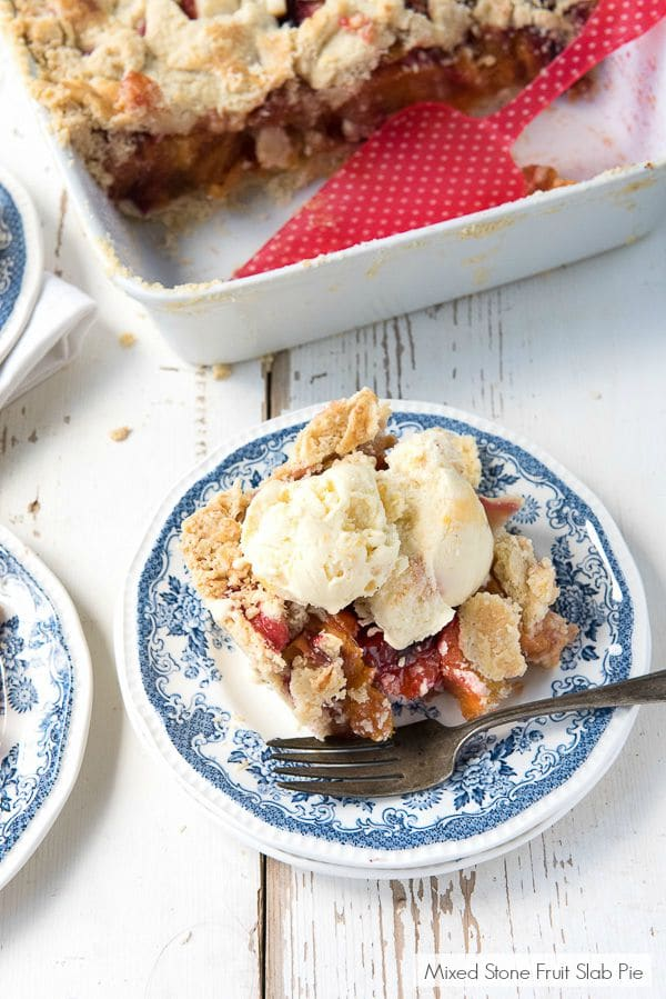 Mixed Stone Fruit Slab Pie