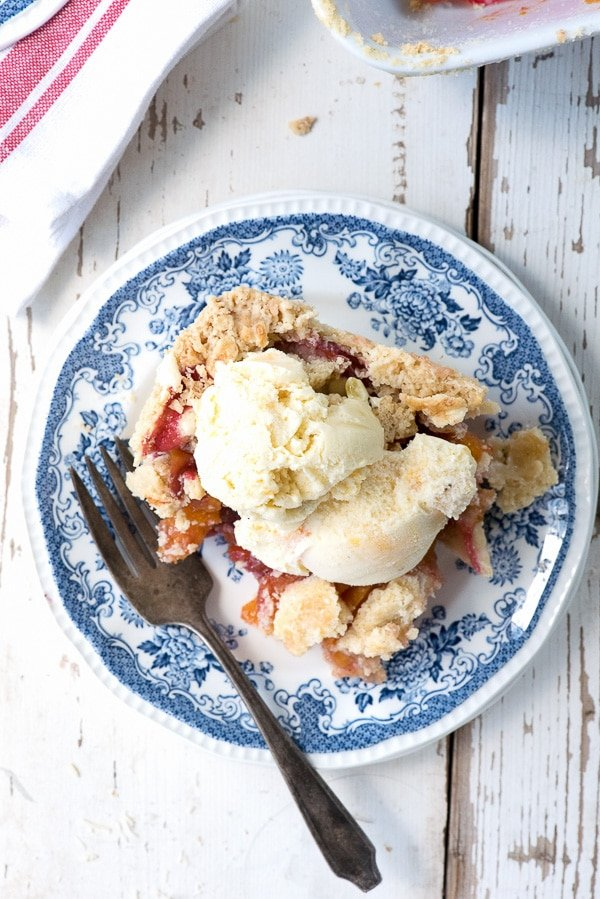 Stone Fruit Slab Pie with Grilled Peach Mascarpone Ice Cream - BoulderLocavore.com