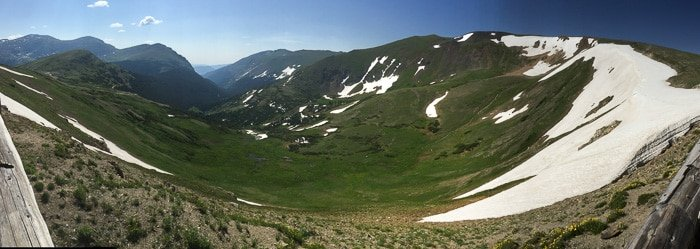 iPhone Pano from Alpine Visitor Center - Rocky Mtn Natl Park - BoulderLocavore.com